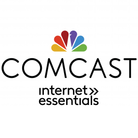 This is an image of Comcast's company icon and a link to information about the company's 60 Days of Free Internet service.