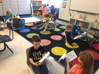 Flexible seating from Educational Foundation donation