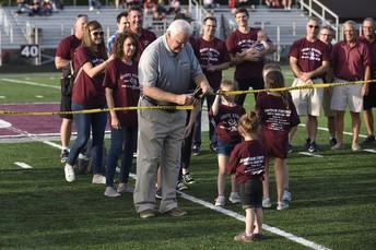 Bill Sharpe and family dedicate the new Sharpe Stadium