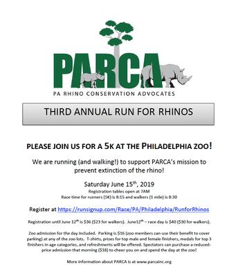 PARCA   Run for the Rhinos