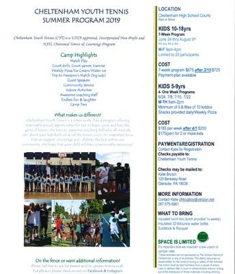 Cheltenham Youth Tennis Program