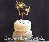 Franklin Faculty Birthdays-December