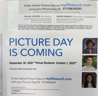 PICTURE DAY IS NEXT WEEK