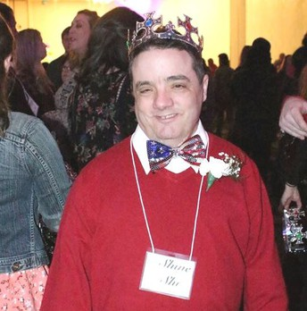 Randy Ford wearing his King crown