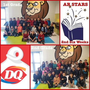 2nd six weeks students who met their AR goals