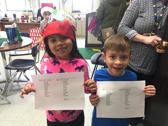 What??? Sight word list #20 for this Kdg. duo!!!