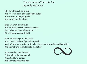 You are always there for me by Addy M.