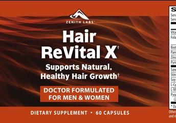Hair ReVital X Dietary Supplement Ingredients: