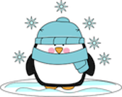 penguin with hat & scarf