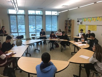 Gators of the Week:  English 1 Students Engage in a Socratic Seminar