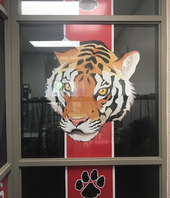 A little Tiger spirit in the office!