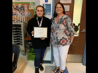 9th Grade student of the month Samantha White