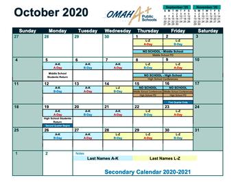 Updated District Calendar