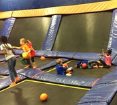 Having fun at Sky Zone