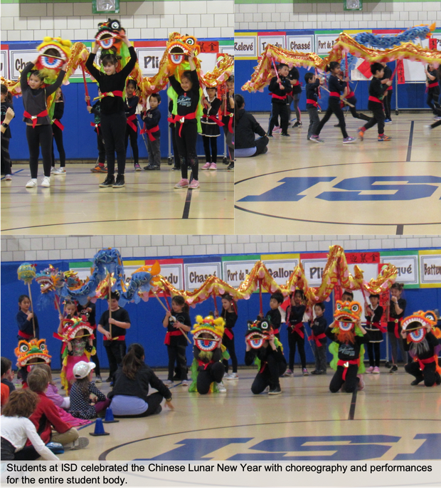 ISD Chinese New Year celebrations including dance and other choreography