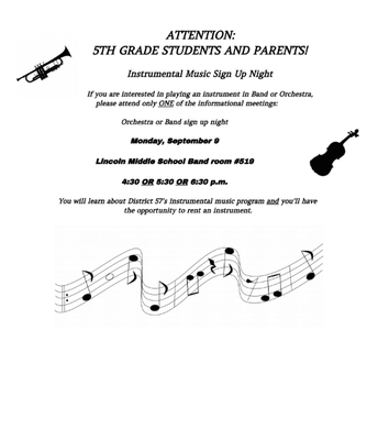 5TH GRADE BAND/ORCHESTRA SIGN UP