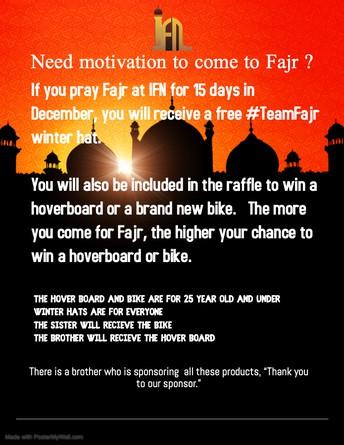 Post Fajr Raffle Winners