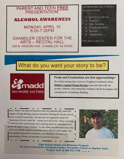 Alcohol Awareness Flyer