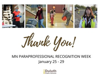 Thank You, Duluth Paraprofessionals