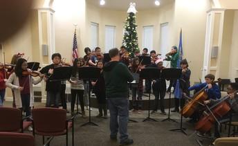 8th Grade Orchestra Caroling