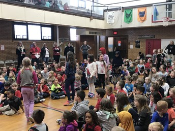 Second Graders Lead the School Song