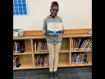1st Place WCES Spelling Bee Winner