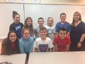 2017-18 6th grade student council-Anabelle, Stewart, CateAnn, Aisley, Chase, Carter, Scott, Caitlyn, and Alexandra!