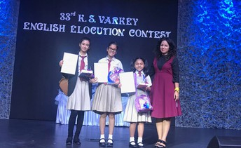 NMS students make a mark at the prestigious KS Varkey Elocution Contest