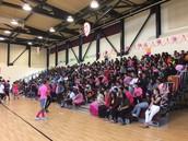 8th Grade Rally! Pink vs. Blue