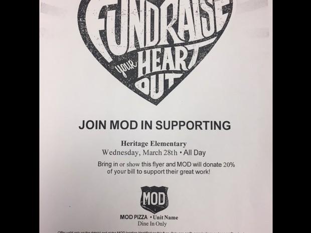 MOD Pizza Fundraiser Flyer