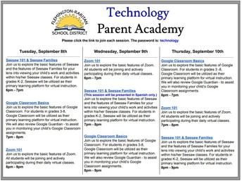 Technology Parent Academy