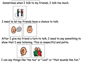 Listening Social Story