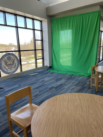 Green screen available in media center