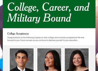 Virtual Bulletin Board for College, Career & Military Acceptance