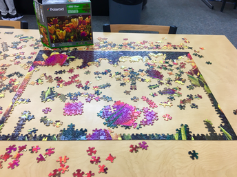 Help complete the spring puzzle! This tulip puzzle is challenging!