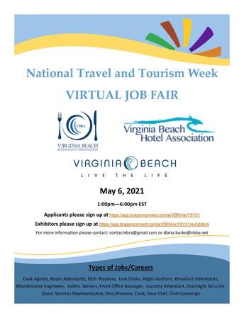 National Travel and Tourism Week - Virtual Job Fair