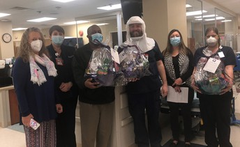 Health Care Heroes with their baskets!