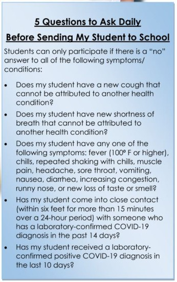 Review these questions each morning!