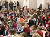 Students Await the PBIS Assembly