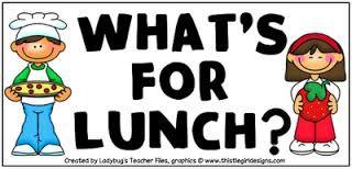 August 2019 Lunch Menu