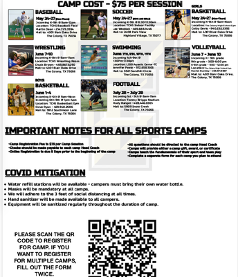 TCHS Summer Sports Camps