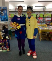 Ms. Frizzle and Pete the Cat