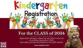 Kindergarten registration sign