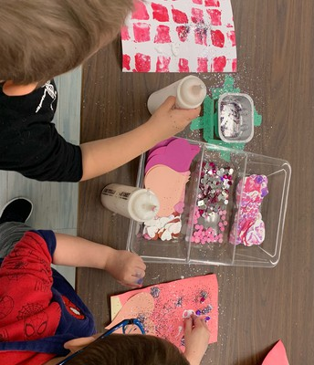 Pathways students have been busy making Valentine's cards to deliver to our community members!