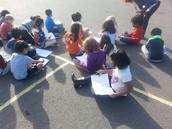 1st Graders Observe Daytime Sky