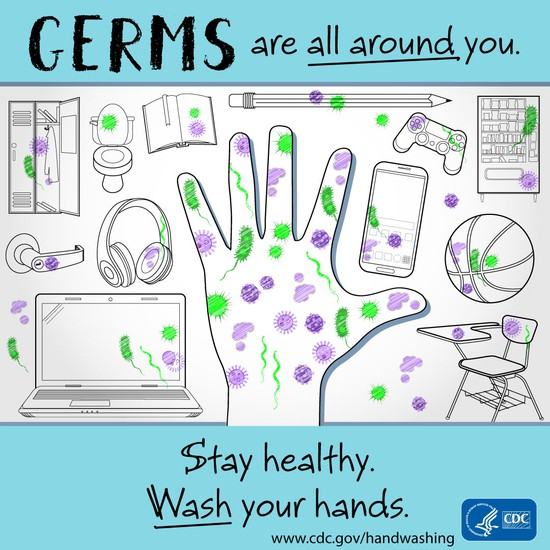 CDC Germs are all around you.
