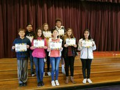 8th gr Students of the Month