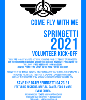 Springetti Funraiser Volunteer Kick-off!