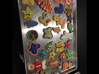 A beautiful tray of Holiday Cookies