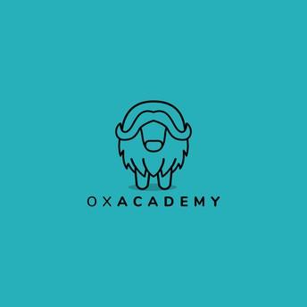 ox academy logo - outline of muskox